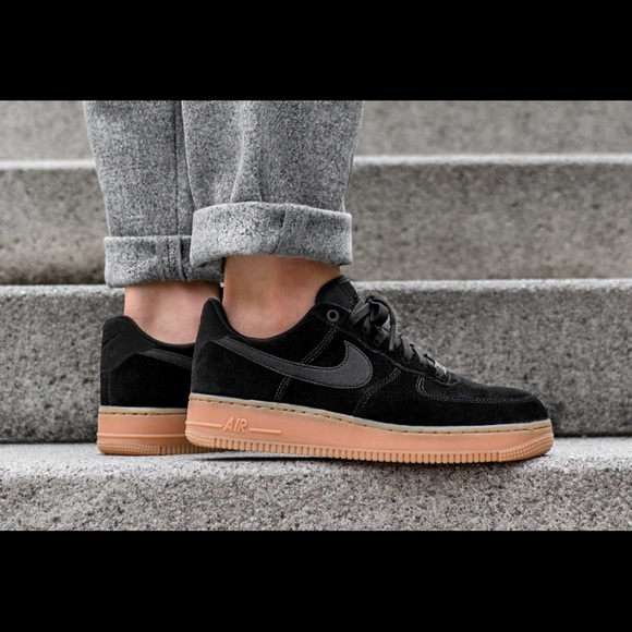 dfed83ad59 Nike Shoes | Bandier New Air Force 1 07 Black Suede | Poshmark